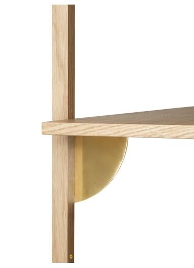 Sector Shelf S/N - Oak - Brass Ferm Living
