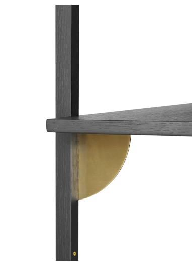 Sector Shelf S/N - Black Ash-Brass Ferm Living