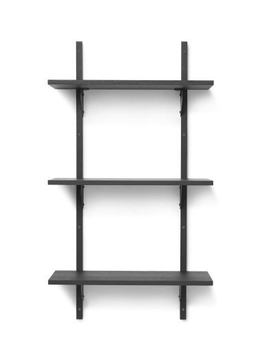 Sector Shelf T/N - Black Ash-Black Brass Ferm Living
