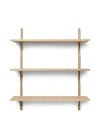Sector Shelf T/W - Oak - Brass Ferm Living