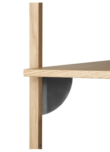 Sector Shelf T/W - Oak - Black Brass Ferm Living