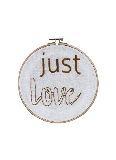 Bastidor con frase Just Love Numero 74