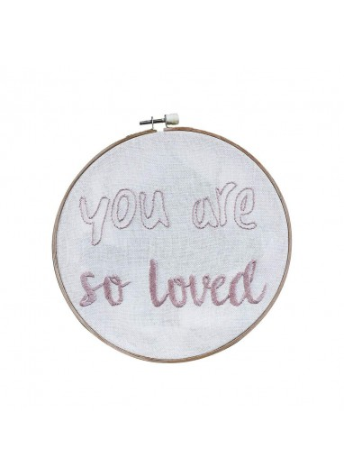 Hoop quote You are so loved Numero 74