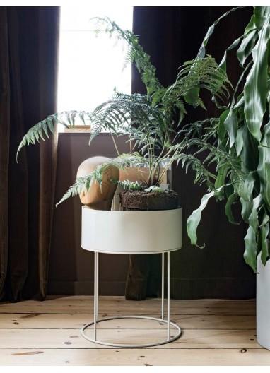 Plant Box Gris Redonda - Ferm Living
