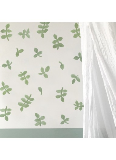 Watercolor leaves sticker- green - Tresxics