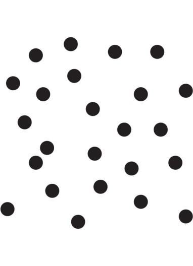 wall sticker 50 dots black Tresxics