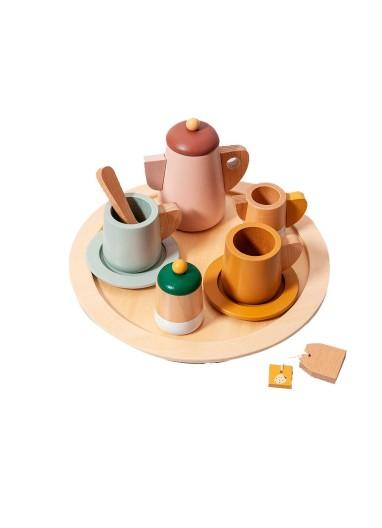Wooden tea set PETIT MONKEY
