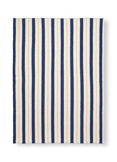 Pinstripe blanket blue ferm living
