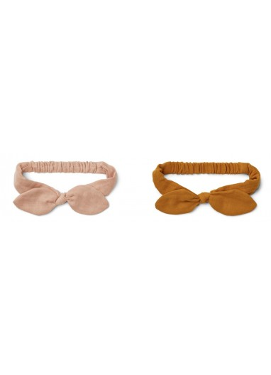 Henny Headband 2-pack Rose / Mustard 1-2 years Liewood