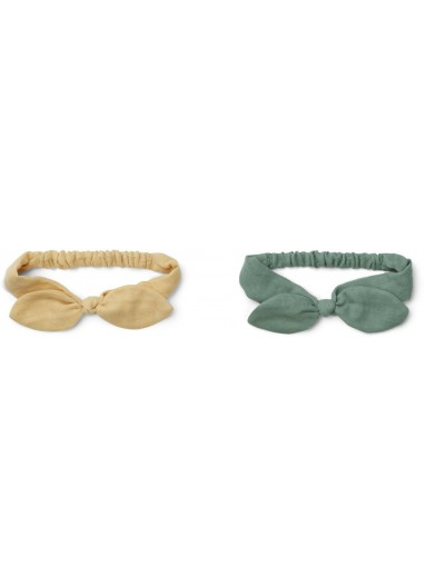 2-pack Henny Headband 3-5 years Wheat Yellow Liewood