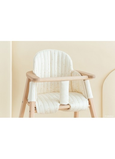 Growing Green High Chair Cushion Honey Sweet Dots Natural Nobodinoz