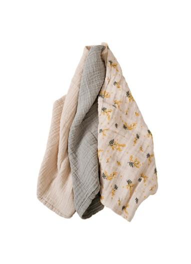 Mimosa Muslin Burp Cloth 3 pcs Garbo and Friends