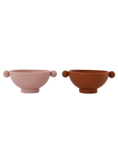 Tiny Inka Bowl Set of 2 Caramel / Rose OYOY