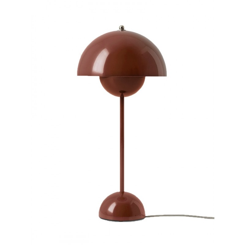 VP3 Flowerpot Lamp Red brown & Tradition