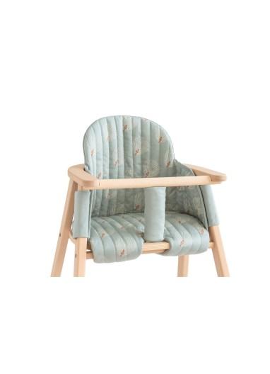 Growing Green High Chair Cushion White Gatsby Cream Nobodinoz