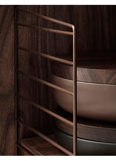 Pack 2u Panel de pared 75 x 20 cm Marrón String® Furniture