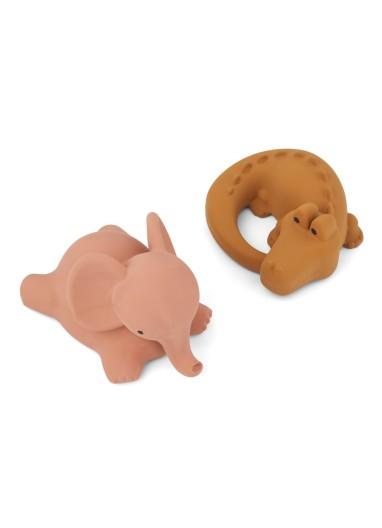 Vikky Bath Toys 2 Pack Safari dark rose Liewood