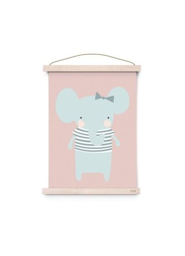 Lámina Pink Elephant