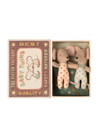 Twins in box baby mice  Maileg