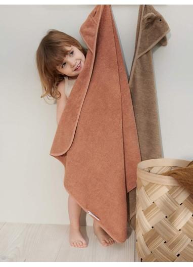 Albert Hooded Towel Mr Bear Tuscany Rose Liewood