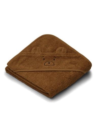 Albert Hooded Towel Mr Bear Golden Caramel Liewood