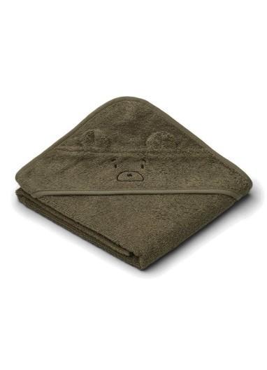 Albert Hooded Towel Mr Bear Khaki Liewood
