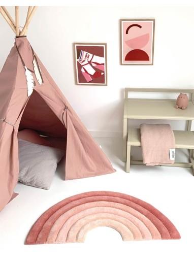 Alfombra Rainbow Rusty Pink Maison Deux