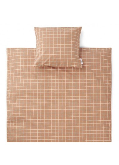 Carl Adult Bedding Check / Tuscany Rose Liewood