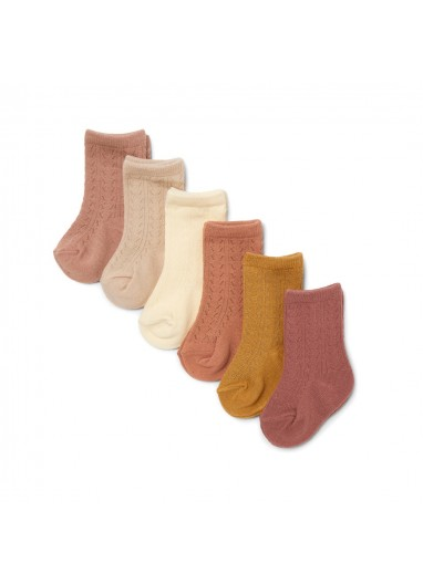 6 Pack Pointelle Socks Sahara Shades Konges Slojd