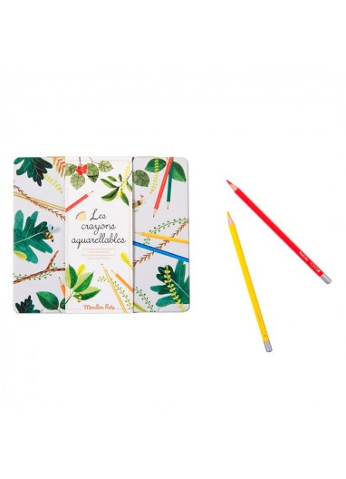 24 Watercolour Pencils Case Moulin Roty