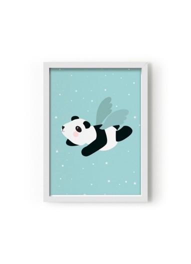 Lámina Panda volador