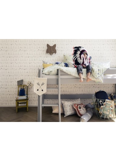 Papel pintado infantil Native indios Ferm Living