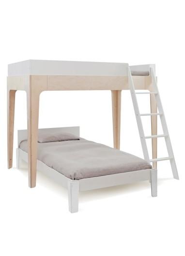 Litera Twin Perch Nogal Oeuf Bunk Bed