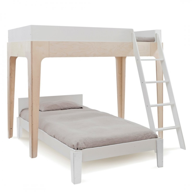 Litera Twin Perch Nogal Oeuf Bunk Bed